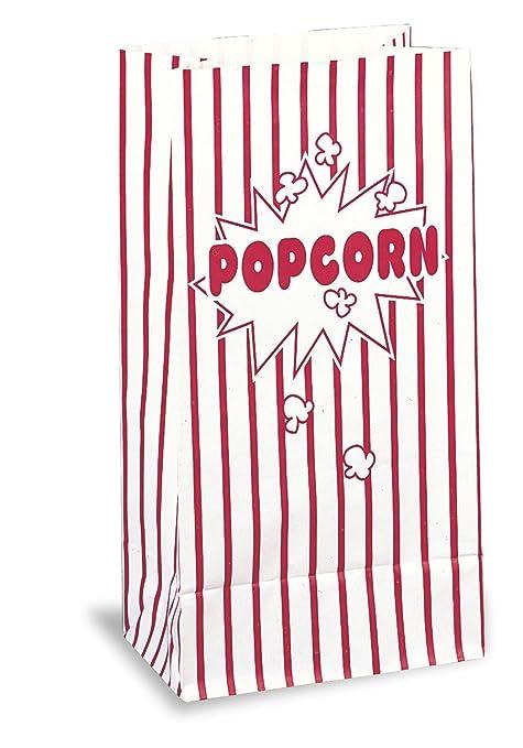 """Único - Bolsas de papel para las palomitas de maíz de 10""""x 5.25"""""""