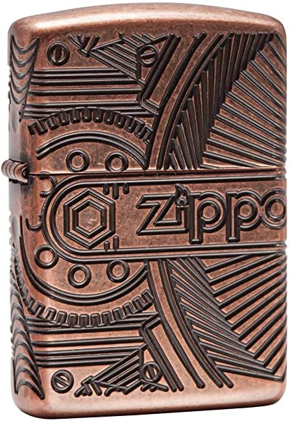 Zippo Mechero con Unisex Marchas Regular, Armor de Cobre Envejecido, un tamaño: Amazon.es: Deportes y aire libre