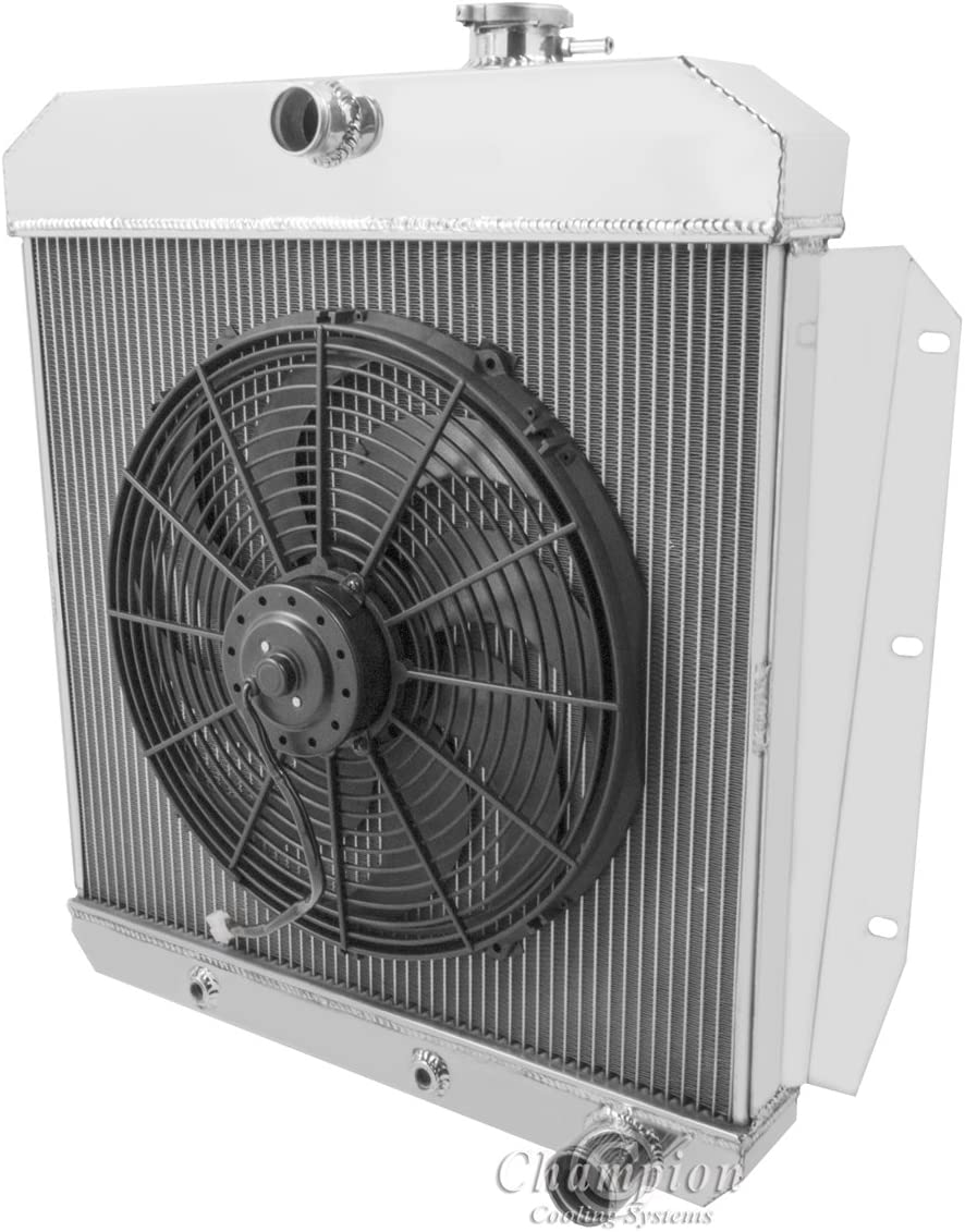 3ROW Aluminum Radiator for 1955-1959 CHEVY PICKUP TRUCK AT MT+16/'/'FAN