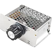 HALJIA AC 220V 4000W Motor drehzahlregler Spannungs-Regler Gouverneur Dimmer Thermostat High Power SCR Motor Speed Controller Governor