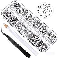 2016 Pcs 3D Nail Art Rhinestones Nail Crystal - 6 Sizes (1.5-6.5mm), with Nail Art and Rhinestone Picking pens for…