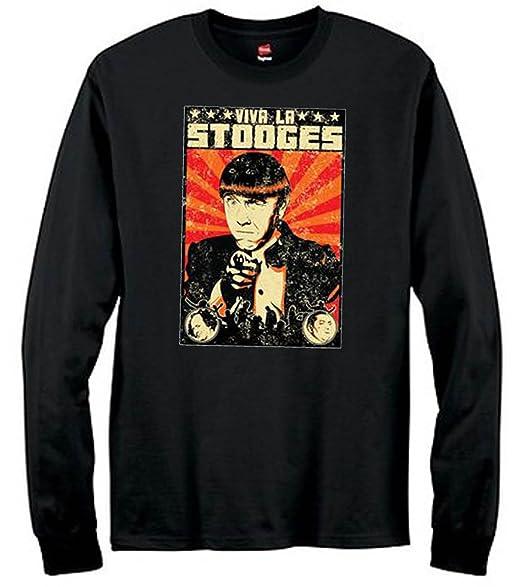 ed9e03fc U.S. Custom Ink Viva La Stooges Hanes Tagless Long Sleeve T-Shirt ...
