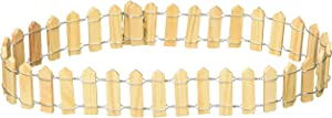 Darice 9154-68 Wood Picket Fence, Natural