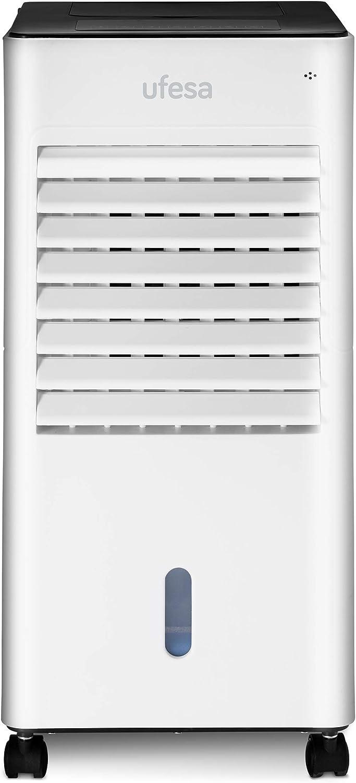 Ufesa Air Cooler CL6040 - Enfriador de aire portátil, pantalla táctil, depósito de 5 L, temporizador de 12 h, 3 ...