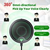 USB Conference Computer Microphone MAONO BM10 Metal Boundary Desktop Mic with Mute and Headphone Playback, Omni-Directional Plug & Play PC Mic Anti-Drop Body for Windows, Mac, Meeting, Gaming, Skype