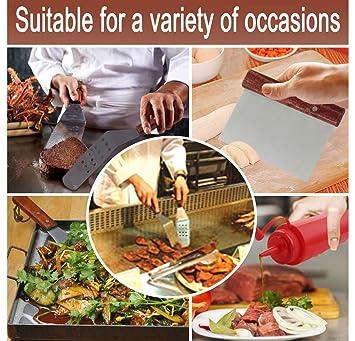 Accesorios de parrilla de 7piezas Juego de Herramientas para Barbacoa Espátulas pinzas para carne botellas de condimentos Delantales - barbacoa para acampar ...