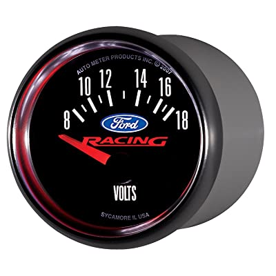 Auto Meter 880081 Ford Racing Series Electric Voltmeter Gauge: Automotive