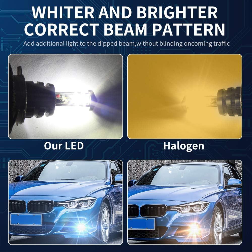 2PCS H15 LED ampoule antibrouillard 21W LED voiture Auto conduite antibrouillard lampe 6500K blanc DC 12V 24V LED ampoule de remplacement pour voiture antibrouillard feux de jour