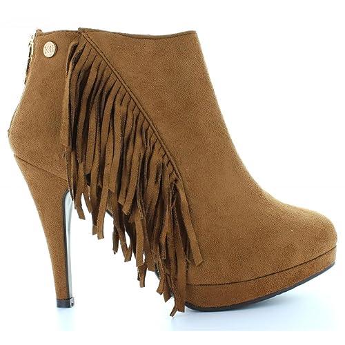 Botines de Mujer XTI 28837 Antelina Camel Talla 41: Amazon.es: Zapatos y complementos