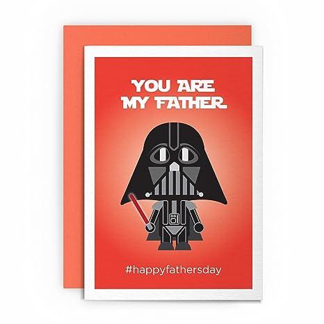 Biglietto Di Auguri Per La Festa Del Papà A Tema Star Wars Darth