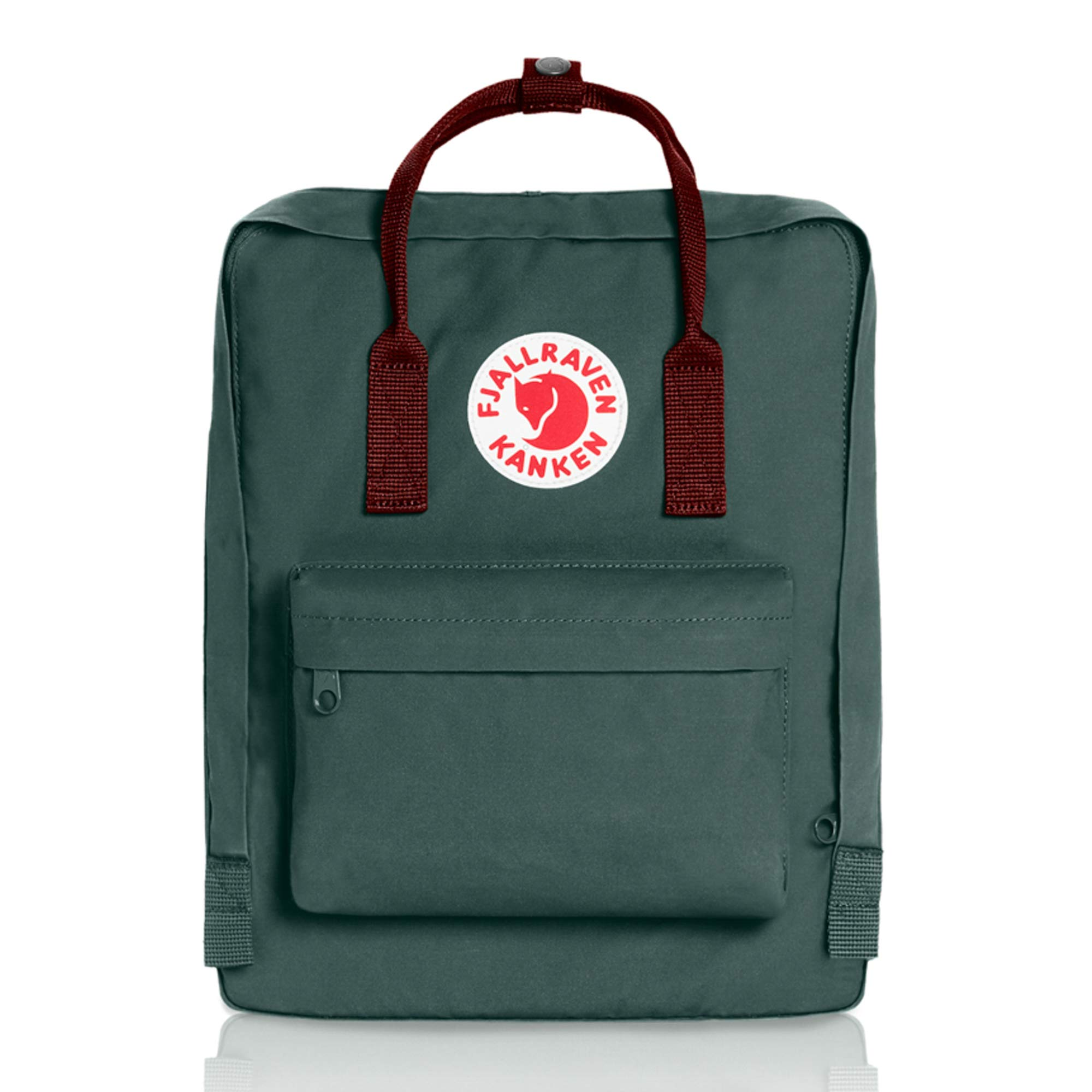 Fjallraven - Kanken Classic Backpack for Everyday, Forest Green/Ox Red
