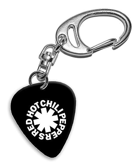 Red Hot Chili Peppers Band Logo Llavero de púa de guitarra ...