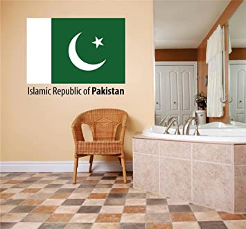 Decal Vinyl Wall Sticker Islamic Republic Of Pakistan Flag