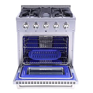 ThorKitchen Professional 30 Inches HRG3080U 4.2 cu.f t.Oven 4 Burners Gas Range