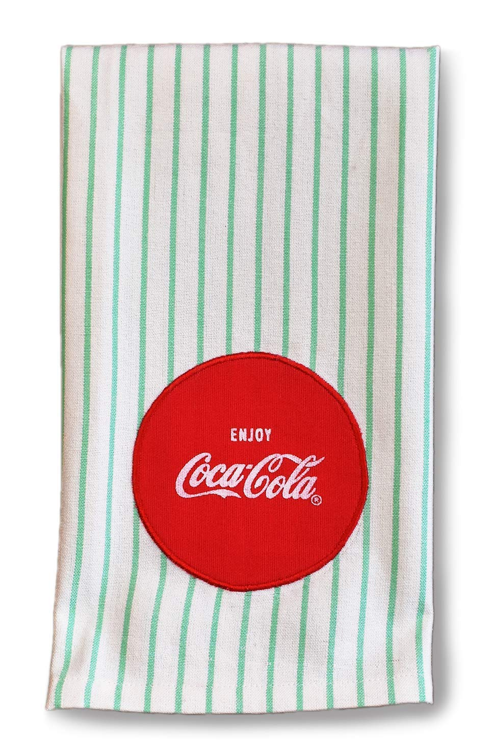 youngs Inc Coca Cola Mint Green Tea Towel, Multi