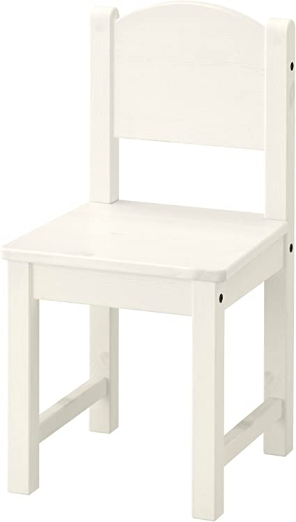 White and Grey Brown IKEA SUNDVIK Children/'s chair