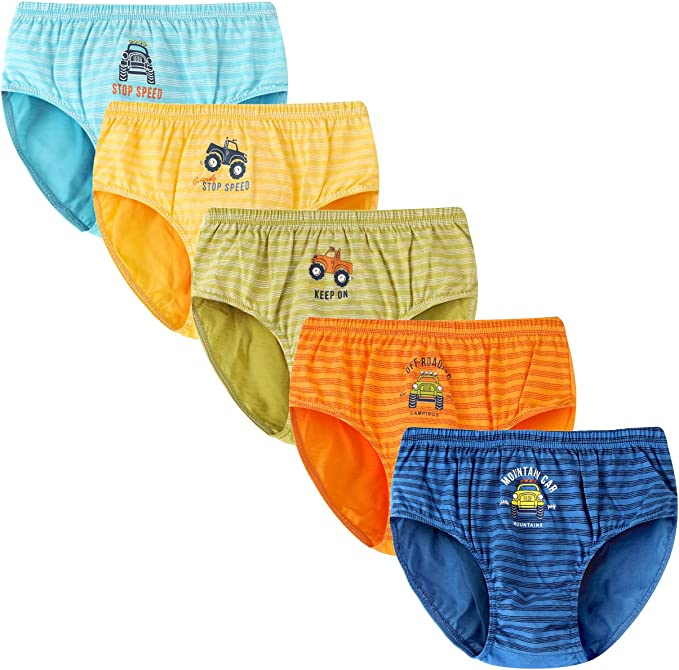 Syrosa - Calzoncillos para niño (algodón, 5 unidades), con dibujos ...