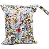 MSsmart (TM) Baby Cloth Diaper Bag Laundry Bag Wet and Dry Bags PUL Multipurpose Storage Organizer Bag (Dinner)