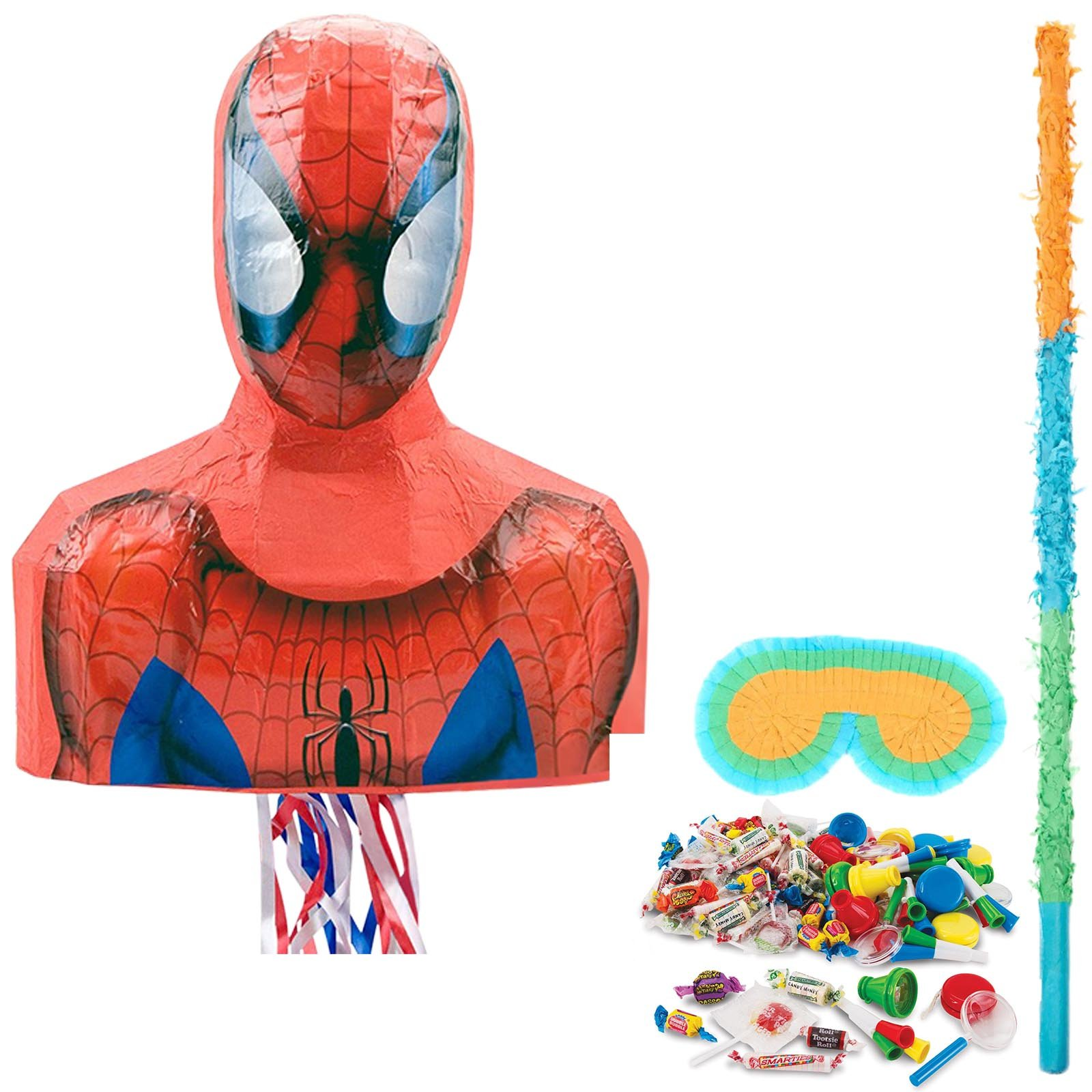 BirthdayExpress Spiderman Webbed Party Supplies Wonder Pinata Kit