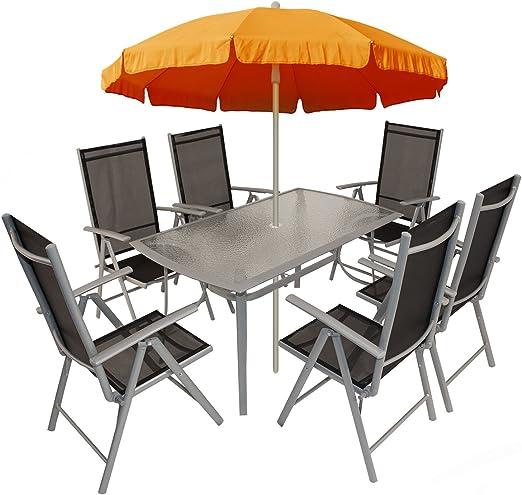 Andorra – Conjunto de muebles de jardín/Sillas, aluminio: Amazon.es: Jardín