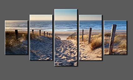 amazon com canvas prints sk006 wall art beach stretched and framed