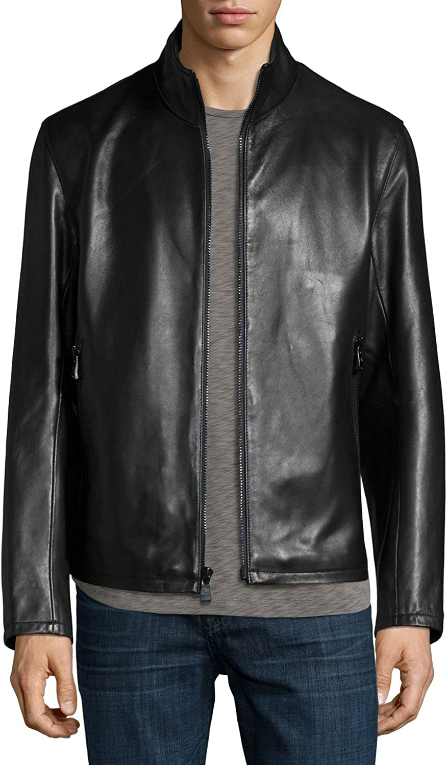 Leather Lovers Mens Lambskin Leather Motorcycle Biker Jacket