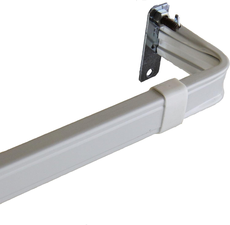 Amazon Com Rod Desyne Lockseam 2 Inch Clearance Window Curtain Rod Set 48 To 84 Inch Home Kitchen