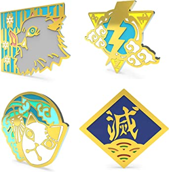 Anime Tinplate Brooch Pin for Clothes Bags Caps and Pencil Cases Peoria 9pcs Haikyu! Style 01 Brooch