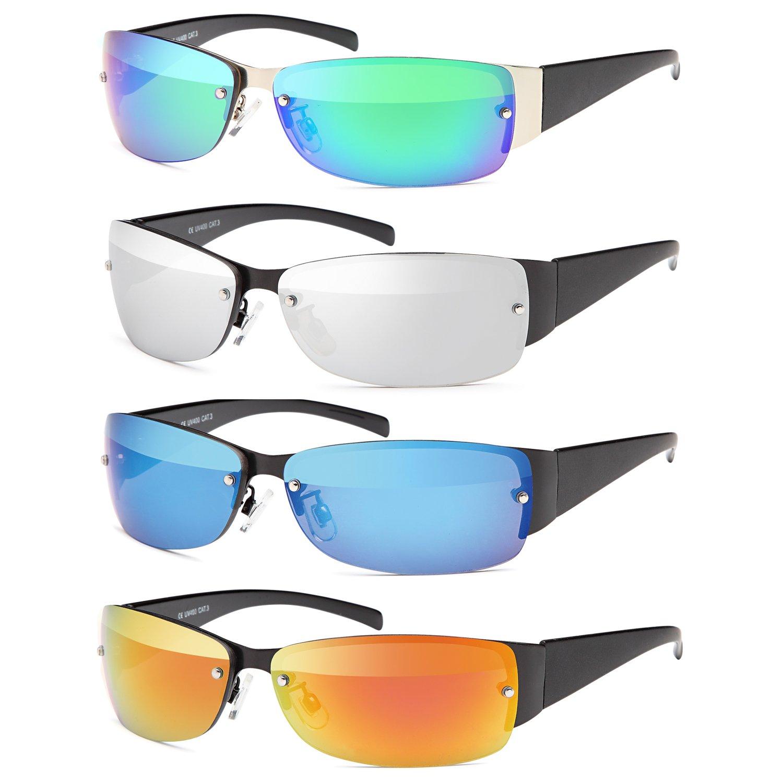 SAMBORA® GXS100-2 Unisex Sonnenbrille Polarisiert UV400 Schutz Sport Style - Rahmen: Schwarz Glas: Schwarz wuwPQHt3ZW