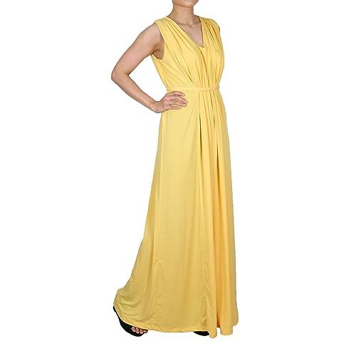 543efb4dfb5 Amazon.com: women yellow formal dresses special occasion elegant maxi long  dress: Handmade