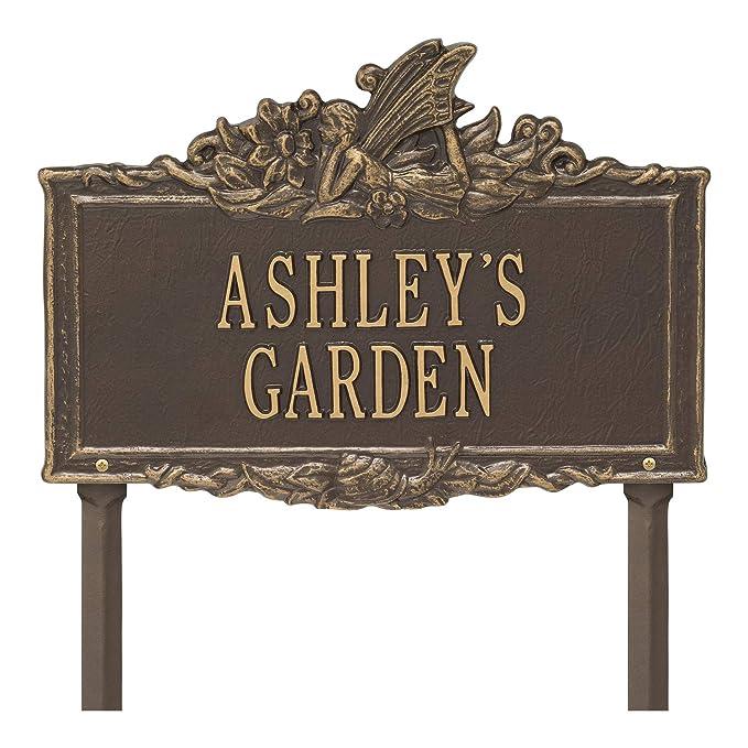 Exterior Accents 2 Line Personalized Fairy Aluminum Garden Lawn Plaque 16.25