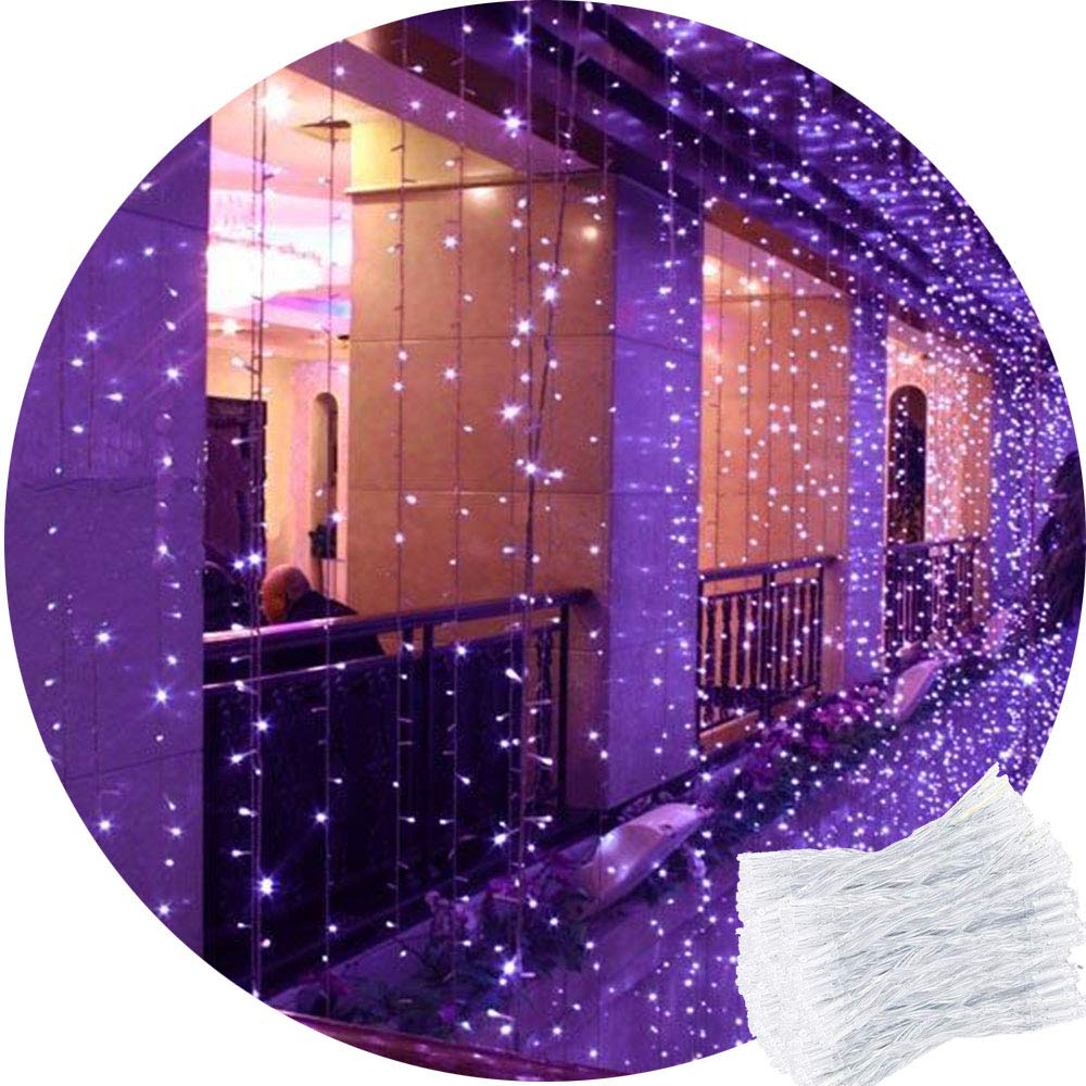 2M x 2M White Curtain Fairy Lights Remote Waterfall Window Light Icicle Fairy Lights,204 LED, DC31V Safety Voltage CORST