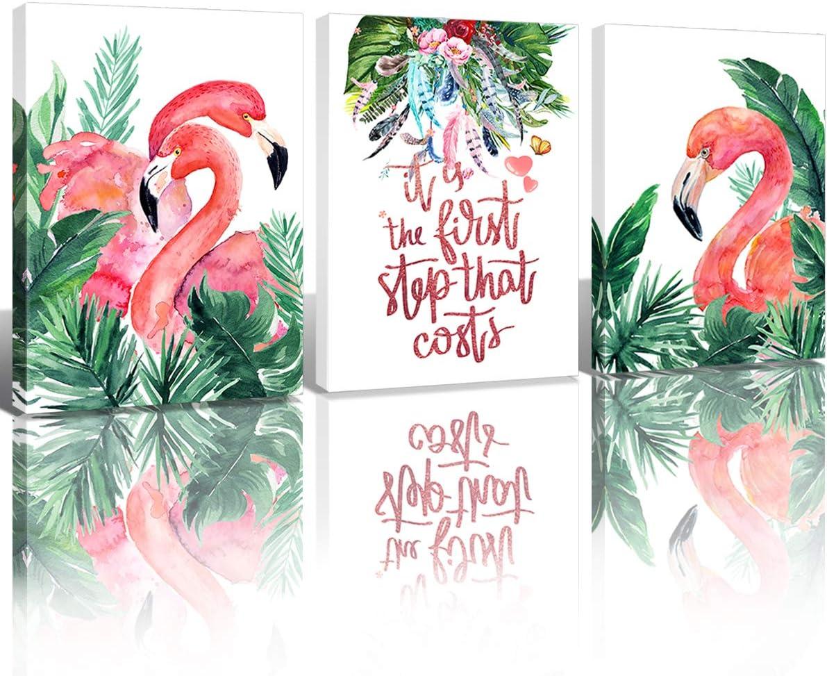lovely for girls room or coastal decor Flamingo Art Print 11 x 14