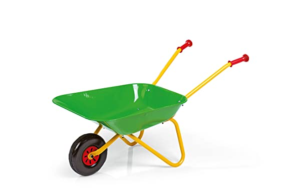 Rolly Toys 271900 rollyMetallschubkarre | Schubkarre bis 50 kg belastbar | Griffe aus Kunststoff | für Kinder ab 2,5 Jahren |