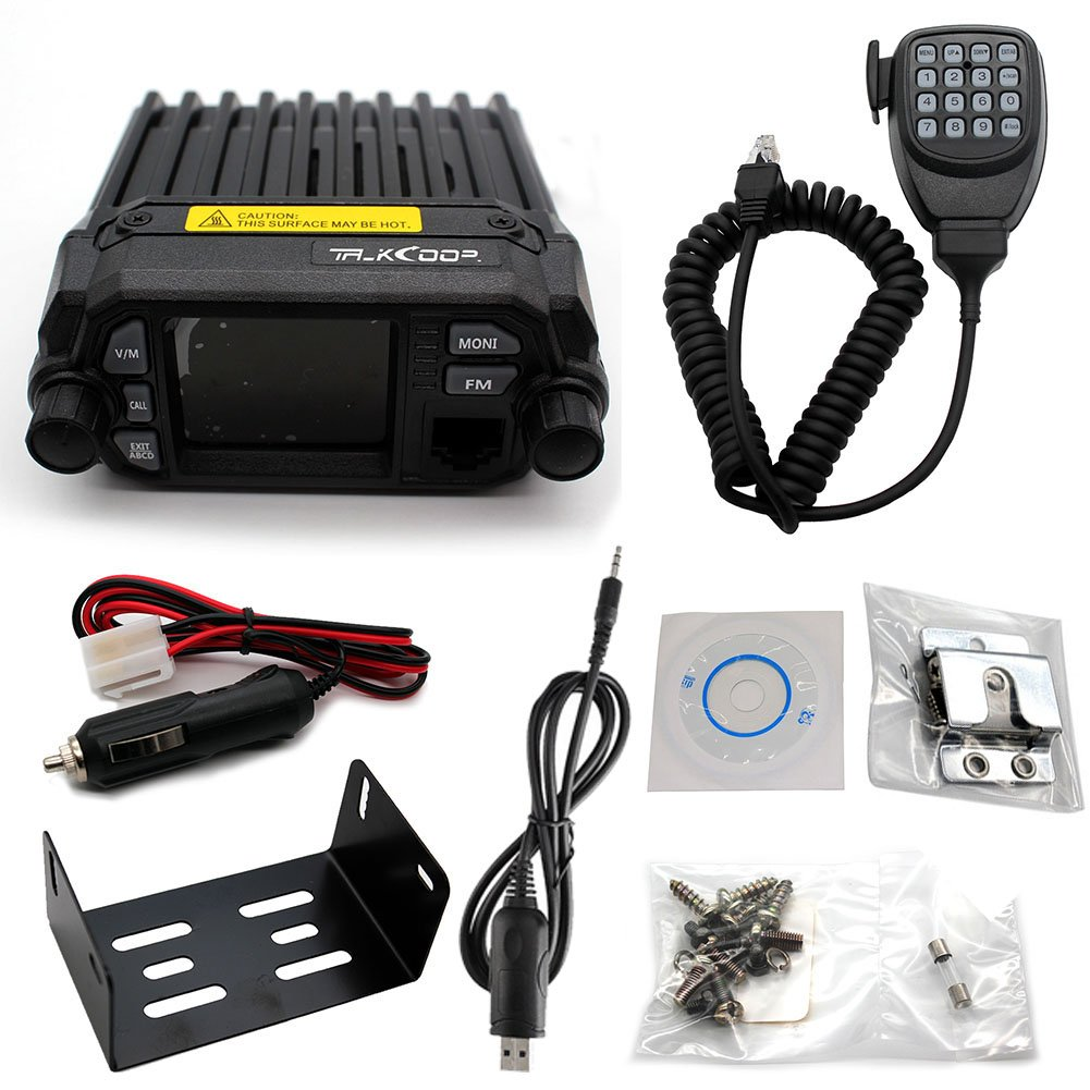 LTD. Free Programming Cable and CD QUANZHOU TALKCOOP COMMUNICATION CO TALKCOOP KT-8900D 25W//20W Dual Band VHF//UHF Mini Color Screen Quad-Standy Mobile Car Radio 2 Way Radios Walkie Talkie Car Mobile Radio