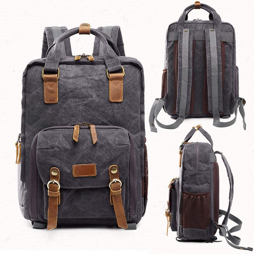 Green Hot Premium Vintage Photography Backpack Waterproof Photography Canvas Bag All-Purpose Use