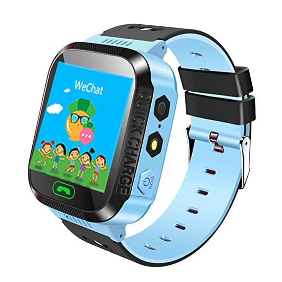 Jsbaby Kids Smart GPS Watch 1.44 inch Touch Smartwatch GPS Kid Tracker Children Girls Boys Birthday