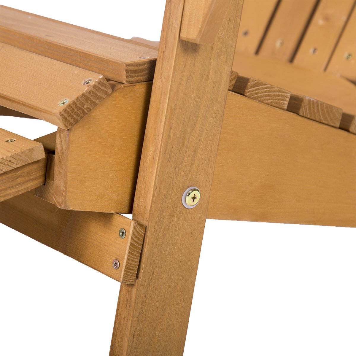 FDW Outdoor Wood Adirondack Chair Foldable w/Pull Out Ottoman Patio Furniture by FDW (Image #5)