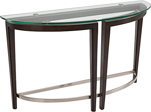 Magnussen Carmen Demilune Console Table in Hazelnut