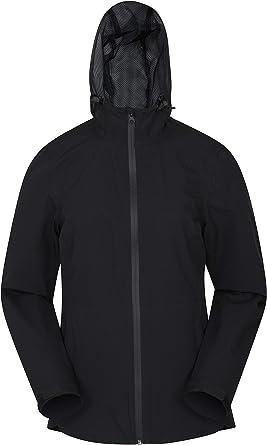 Taped Seams Ladies Rain Coat Walking Adjustable Hood Outdoors Breathable Mountain Warehouse Vancouver Womens Lightweight Waterproof Jacket Best for Travelling