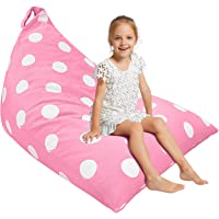 Aubliss Stuffed Animal Storage Bean Bag Chair Cover for Kids, Girls and Adults, Beanbag Cover Only, 23 Inch Long YKK…