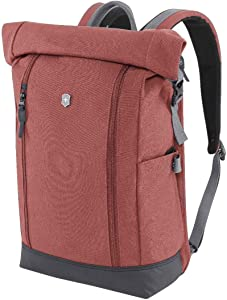 Victorinox Altmont Classic Rolltop Laptop Backpack with Bottle Opener, Burgundy, 17.3-inch