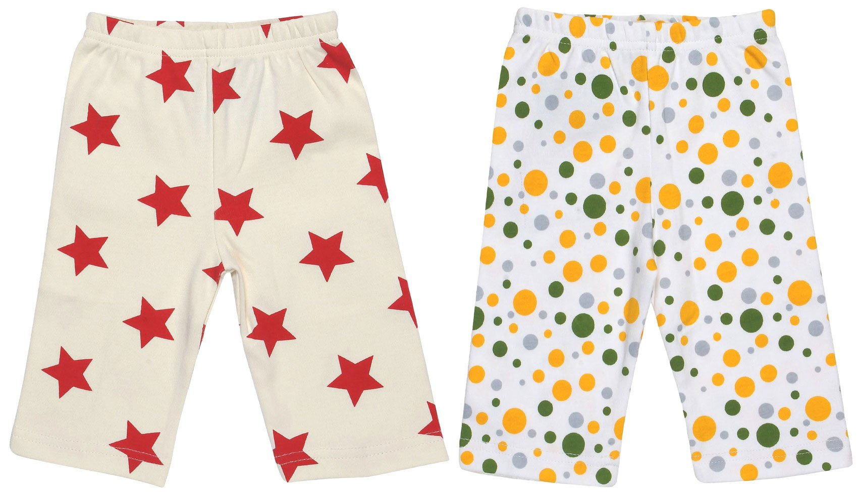 Maple Clothing Organic Cotton Baby Pants GOTS (2 Pack, Star/Dot, 18-24m)