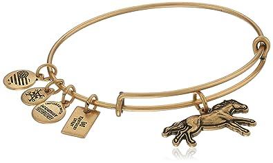 0d15d51b6dca28 Alex and Ani Victorious 3D Race Horse Expandable Rafaelian Gold-Tone Bangle  Bracelet