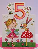 Rachel Ellen Carte d'anniversaire des 5 ans pour fille