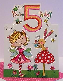 Jonny javelin girl age 5 birthday card amazon electronics rachel ellen age 5 girl birthday card bookmarktalkfo Image collections