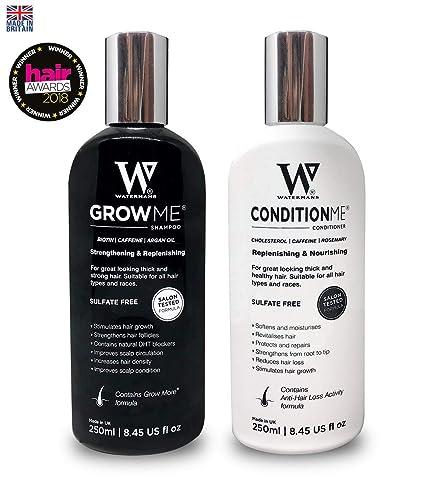 Watermans Rápido Hair Growth champú + acondicionador, de Crecimiento Rápido del Cabello, Tratamiento del Cabello para Evitar la Caída del Pelo, lujo ...