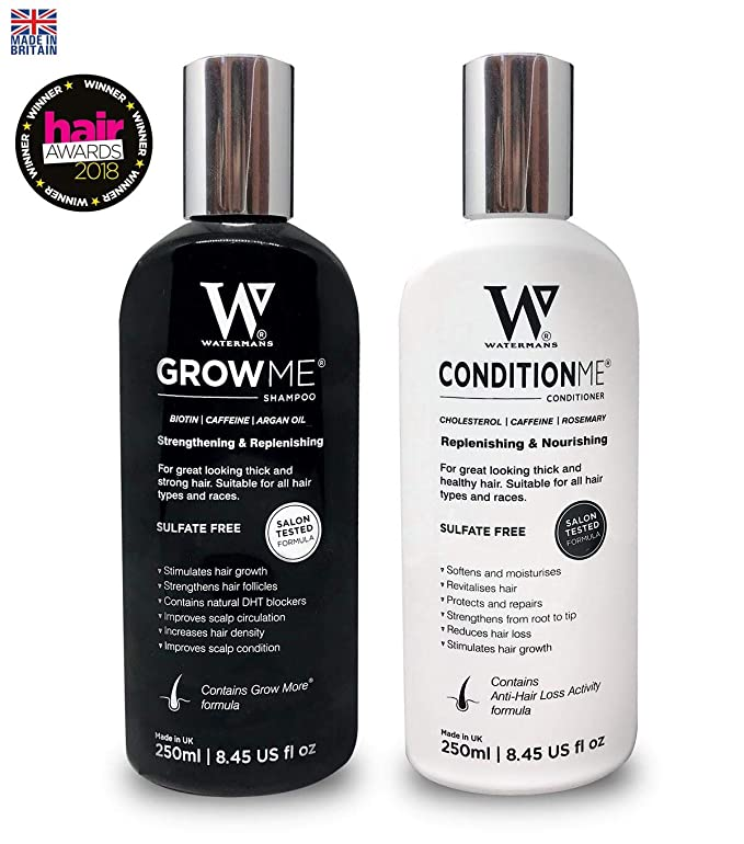 3004760ee6c Hair Growth Shampoo and Conditioner by Watermans - Combo Pack -  Can reduce hair  loss  Amazon.co.uk  Health   Personal Care