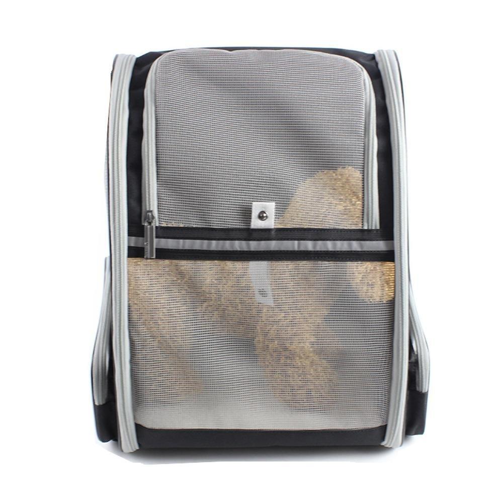Daeou Zaino per animali domestici Doppia zaino spalla Pet fuori borsa traspirante di handy cane Bau 42x28x32cm