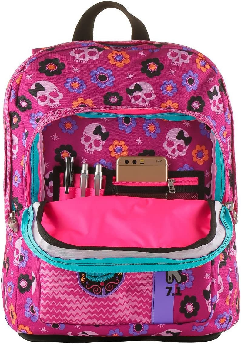 33 LT Rucksack Mexi Girl Pink School Backpack Outsize Seven Student Bag